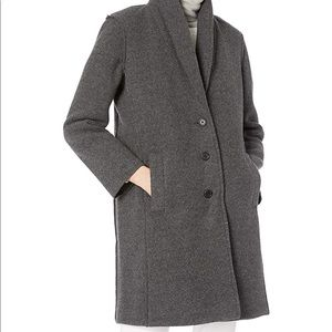 J.Crew Mercantile Womens Wool Shawl Collar Topcoat